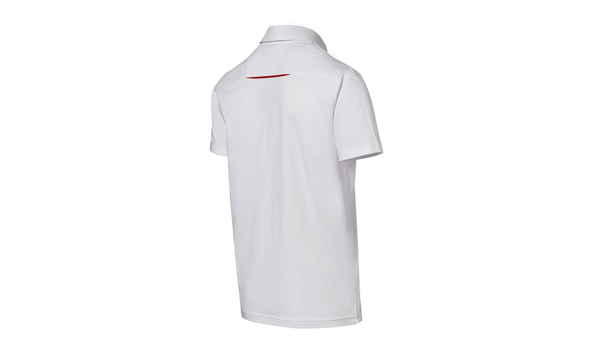 Men's White polo Motorsports Collection, Fanwear