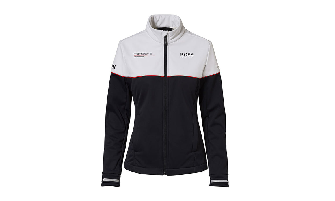 Motorsport Collection, Women's Black and White Softshell Jacket