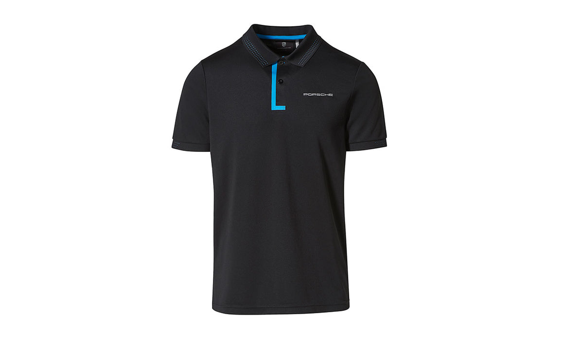 Taycan Collection, Men's Black and Blue Polo Shirt