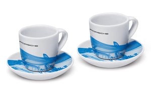 Taycan Collection, White / Digital Blue Collector's Espresso Set No.1, Limited Edition (5,000 pcs.)