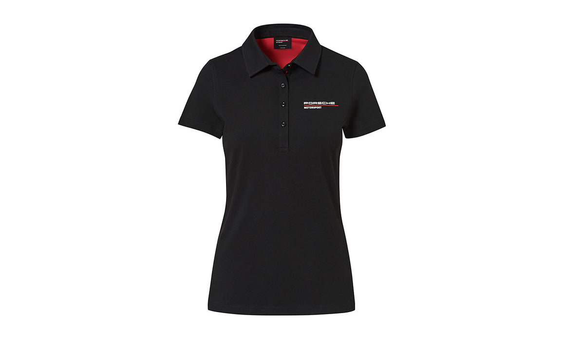 Women's White polo Motorsports Collection, Fanwear