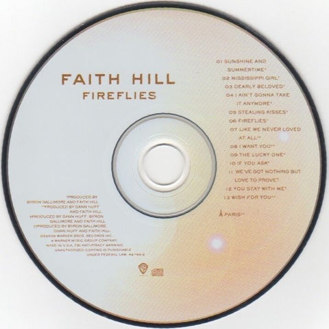"Faith Hill ""Fireflies"" © 2005 CD"
