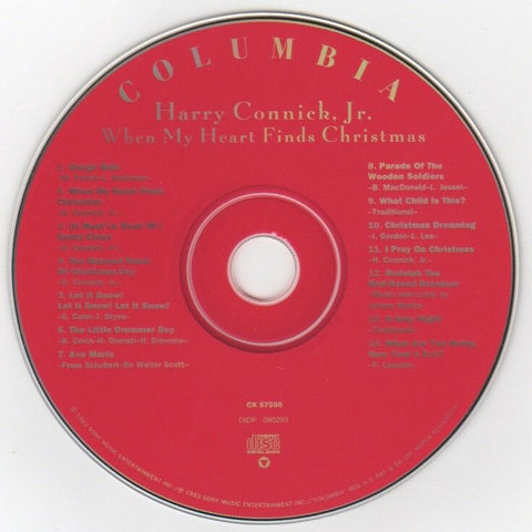 "Harry Connick Jr. ""When My Heart Finds Christmas"" © 1993 CD"