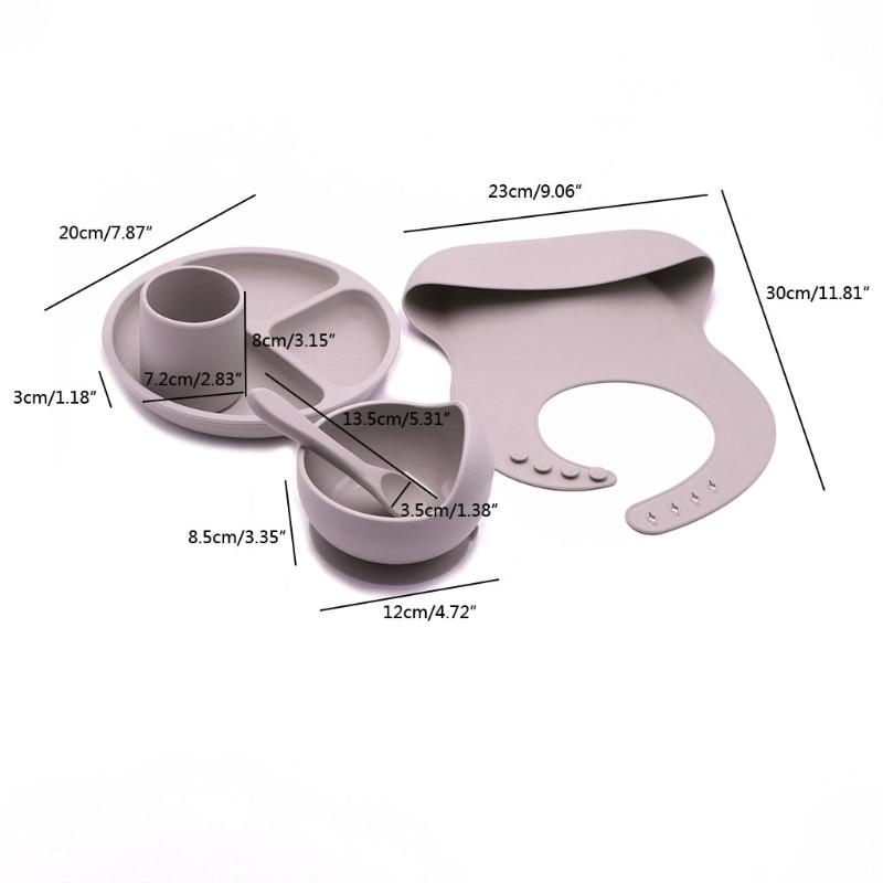 Baby Dine Silicon Food Grade Dish Set- Alure Baby Collections