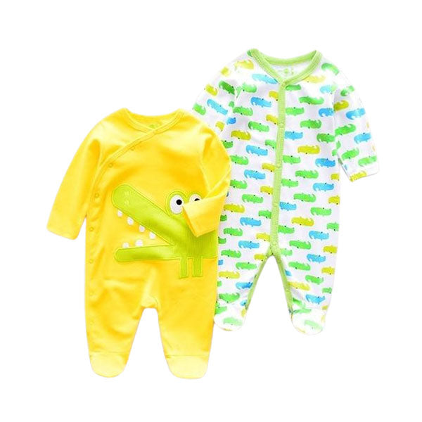 Later-Gator Two Romper Set- Infant One piece Set- Baby cotton Romper  Pack- Alure Baby COllections