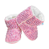 Baby Pink Pearl Bling Boots -Alure Baby Collections