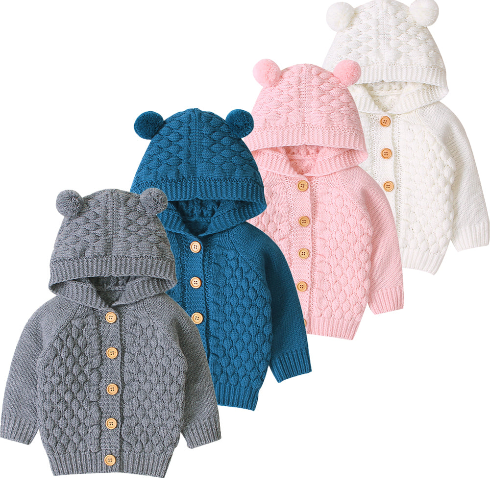 Newborn to todller knit cotton Cardigan Sweaters- Alure Baby Collections