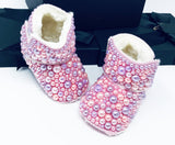 Lux Handcrafted Pink Booties