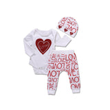 Lovebug Set-Valentine Jumpsuit Set-Infant-Newborn-Toddler-Baby Love Set-Alure Baby Collections