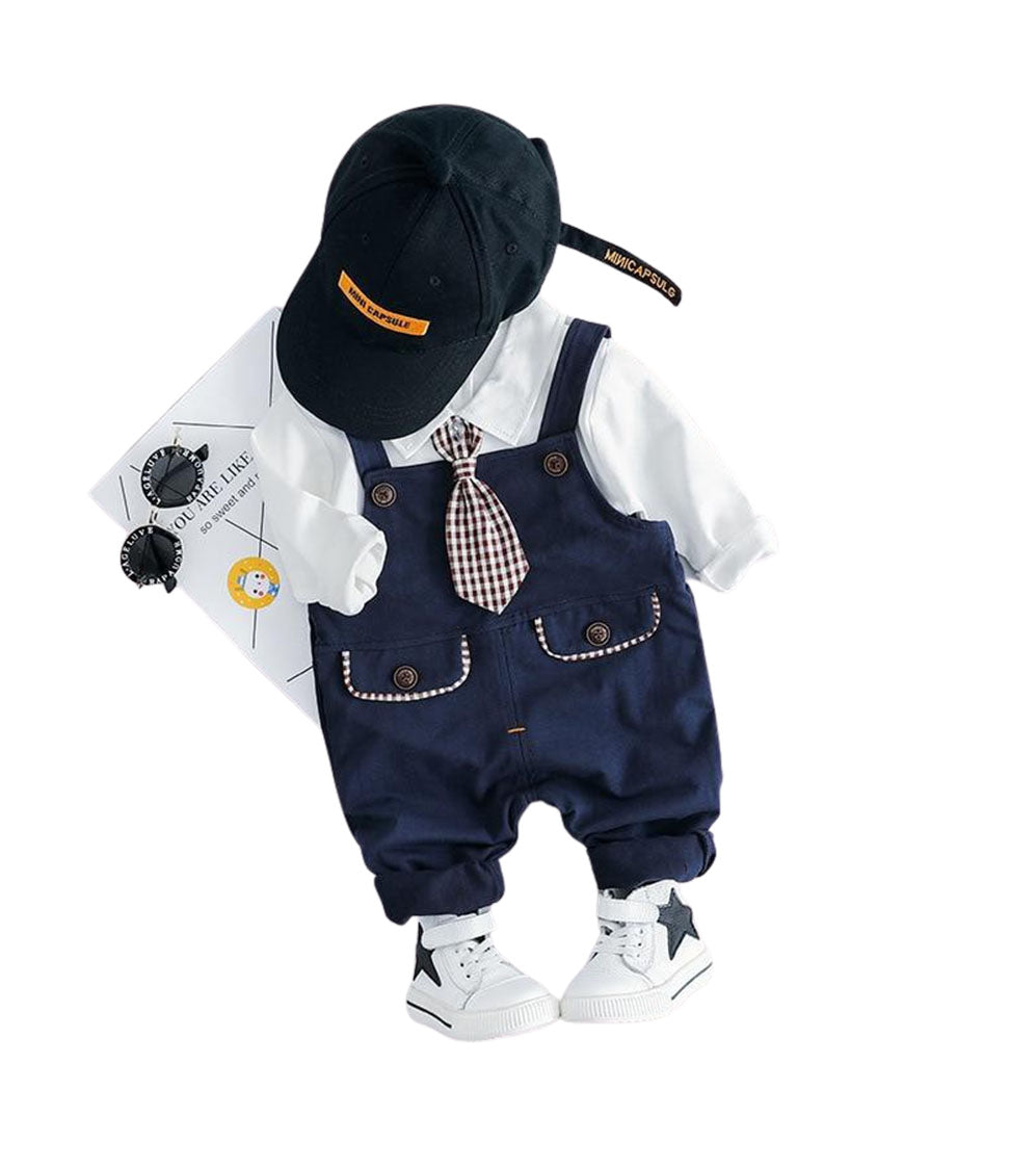 Baby Toddler Boy  Casual Overal Outfit Set- Alure Baby Collections