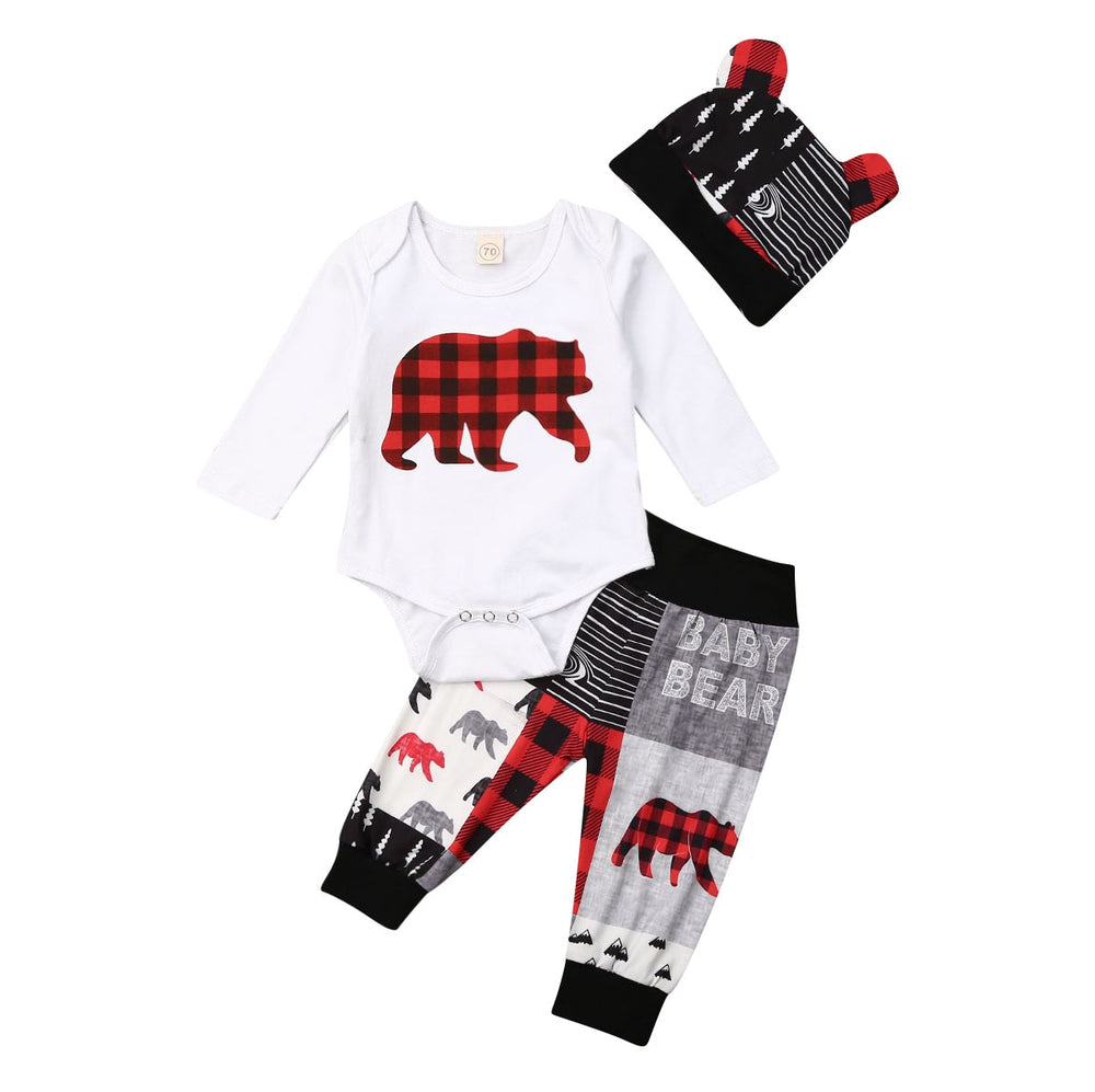 Mount-Bear Baby Set- Infant Baby Bear Outfit Set- Baby Bear Print Outfit Set-Alure Baby Collections