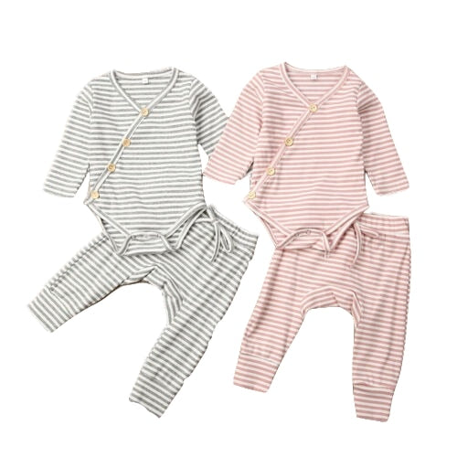 Candy Pajama- Baby Pajama Set- Kimono Style Infant Pajama Set-Alure Baby Collections