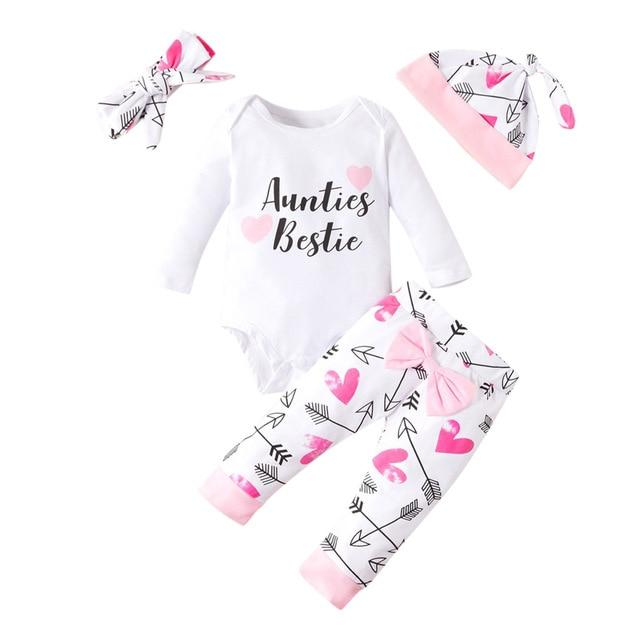Bestie Set- Baby Girl Outfit Set- Girls Valentine Set- Auntie Pajama Set-Alure Baby Collections