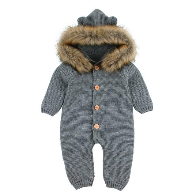 Leo Romper-Baby Winter Outfit- Baby Snowsuit- Alure Baby Collections