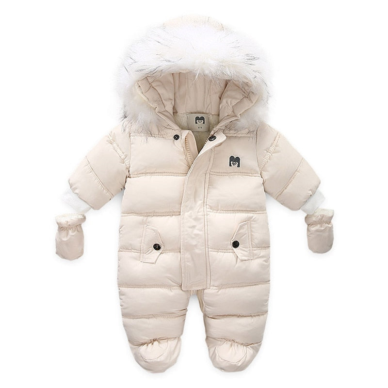 Baby Parka Snowsuit  Romper Faux Fur Hoodie -Alure Baby Collections