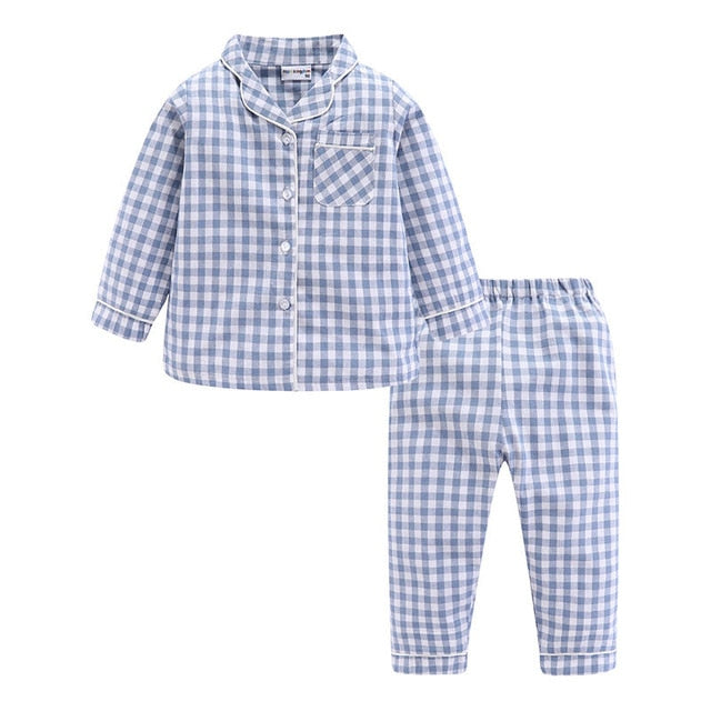 Kids Jersy Plaid Pajama- Toddler 2psc Plais Pajama- Alure Baby Collections