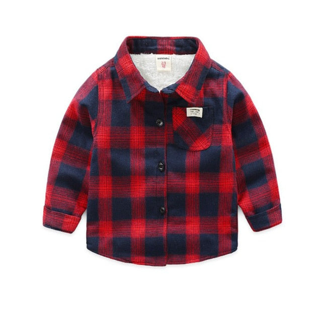 Baby Toddler Plaid out shell Jacket- Alure Baby Collections