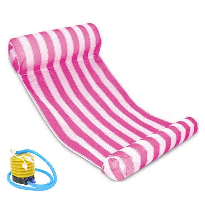 Colorful Striped Outdoor Floating Sleeping Bed
