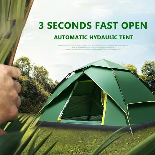 50% Off | 3 Seconds Fastest Open Automatic Hydraulic Tent