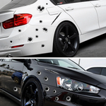 3D Scratch Realistic Bullet Hole Waterproof Stickers (4 Pcs)