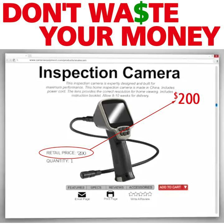 70% OFF!!! Atomic Beam HD Hand-held Wireless Borescope Camera