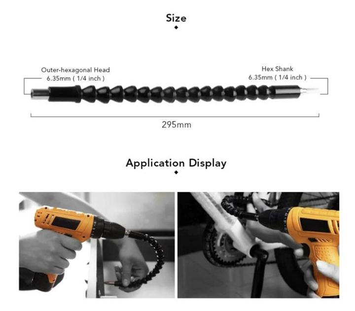 Flexible Drill Bits Extension