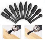 10 Pcs Premium Rotating Burr Grinding Head Set