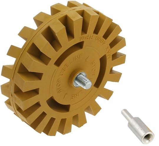 100mm Decal Eraser Removal Wheel Kit Set