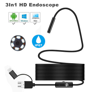 3 in 1 Waterproof USB Ear and Nose Endoscope