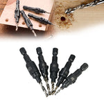 5pcs HSS Countersink Drill Cone Bit Set
