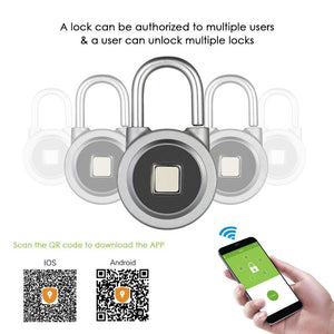 BT Smart Fingerprint Padlock
