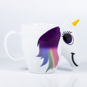 300ml Cartoon Unicorn 3D Color Changing Mug With Temperature