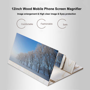 Wood Phone Screen Magnifier Bracket 12 inch