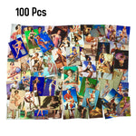 100 Pcs Retro Girl Carton Stickers