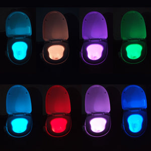 16 Colors LED Motion-activated Toilet Nightlight
