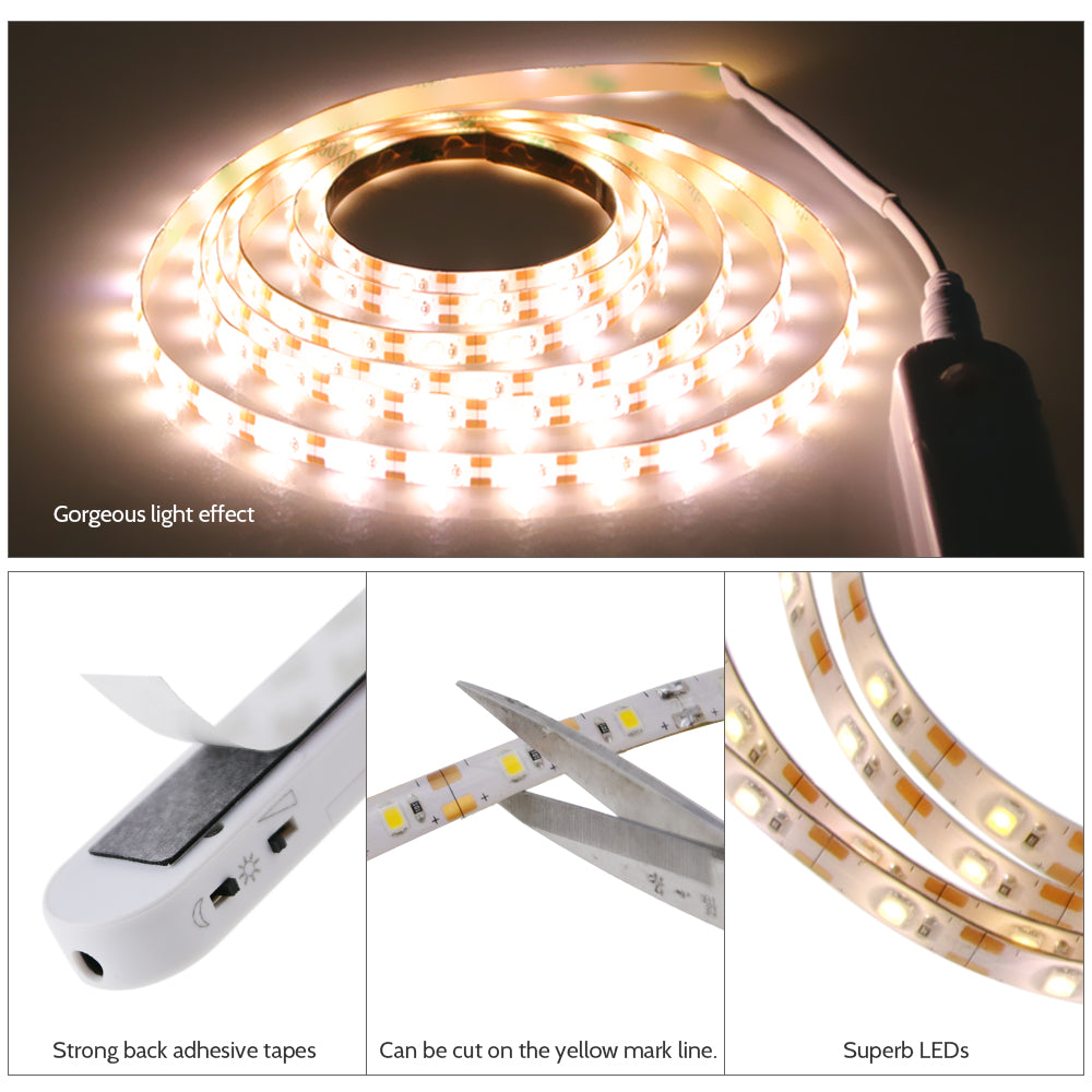 DC5V 2M 120 LEDs PIR Motion Sensor Strip Light