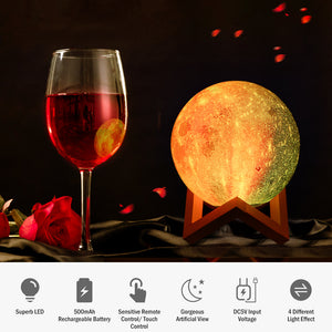 9 LEDs Moon Night Light Atmosphere Lamp