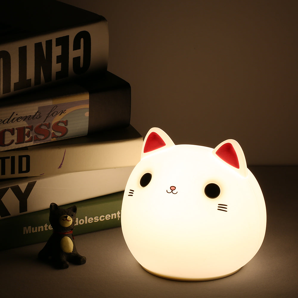 LED Silicone Cat Lamp Patting Control