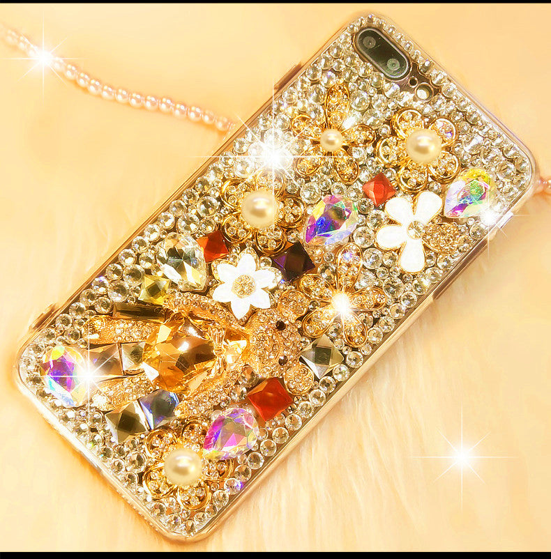 Luxury Bear iPhone Case with Full Crystal