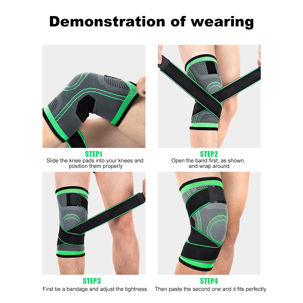 3D Adjustable Breathable Knee Bandage