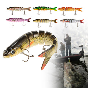 13.5cm/20g Lifelike 8 Jointed Sections Fishing Lure