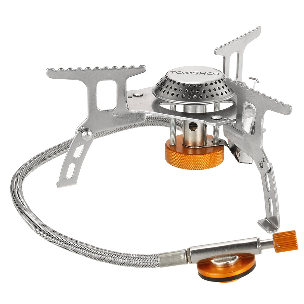 Camping Stove Kit Foldable Backpacking Gas Stove