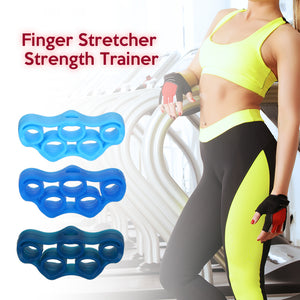 Silicone Finger Stretcher Trainer Hand Resistance Band 1 Pair