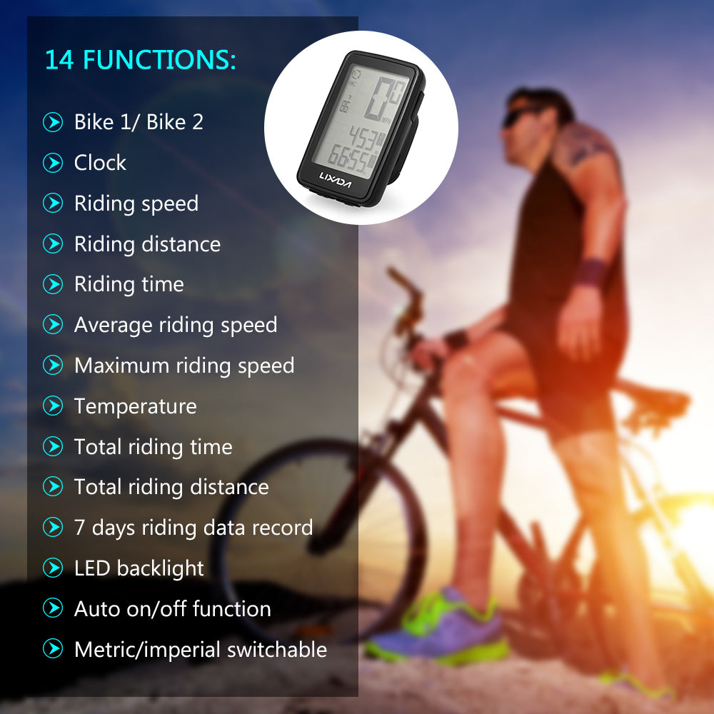 Multifunctional USB Rechargeable Wireless Bike Computer