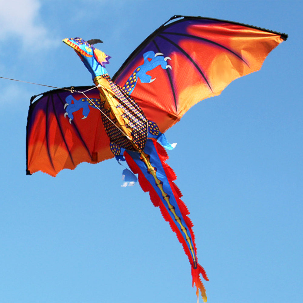 55 x 47 Inch Dragon Flying Kite with Tail