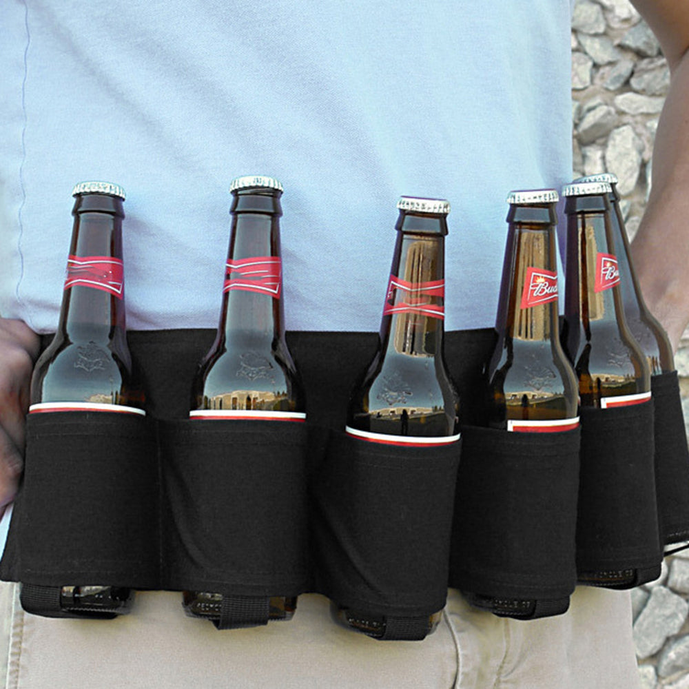 Portable Six Pack Beer Bottle Belt for Outdoor/Party