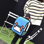 3D Jump Style 2D Drawing Shoulder Bag