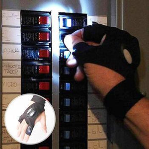 Fingerless LED Light Glove