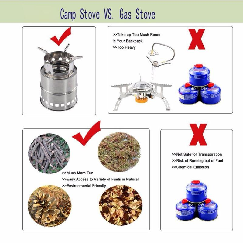 Portable Stainless Steel Camping Stove
