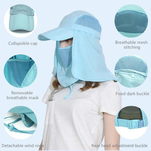 Unisex Face-Neck UV Protection Hat